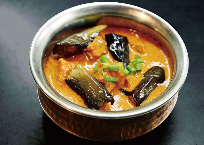 Mutton And Egg Plant Curry
